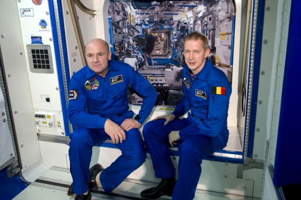 Training of Frank de Winne and Andre Kuipers ESA Astronauts on E